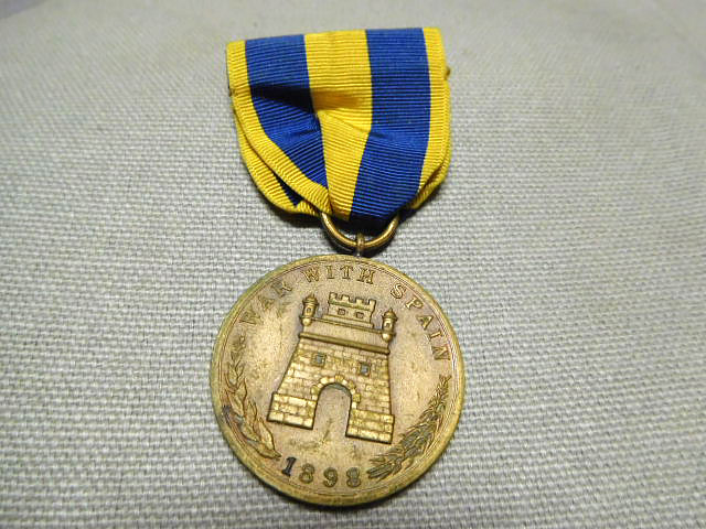 Army Spanish Campaign Medal with RIBBON 1898 U.S